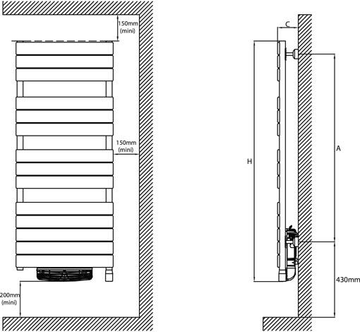 atlantic adelis integral ventilo radiateur s che serviettes atlantic radiateur lectrique. Black Bedroom Furniture Sets. Home Design Ideas